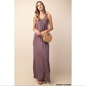 Savona - Maxi With Mesh Lace Yoke and Open Back